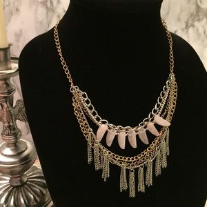 Multiple Chain Statement Necklace B22